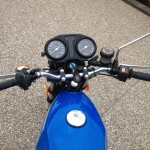 Suzuki GT250X7 - 1979 - Gas Tank, Filler Cap and Clocks.