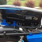 Suzuki GT250X7 - 1979 - Seat, Frame, Inner Fender, Seat Trim and Battery.