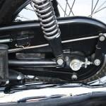 Triumph Bonneville - 1970 - Rear Chain Case, Brake Arm, Chain Adjuster, Exhaust and Footrest.