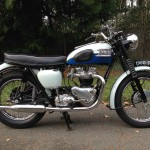 Triumph Bonneville T120 - 1960 - Right Side View, Timing Cover, engine and Seat.