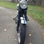 Triumph Bonneville T120 - 1960 - Headlight, Handlebars and Forks.