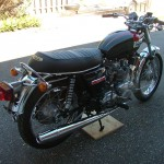 Triumph Trident T140V - 1973 - Rear Fender, Tail Light, Saddle and Shock Absorber.