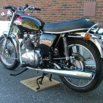 Triumph Trident T140V - 1973 - Exhaust, Seat, Grab Rail and Flasher.
