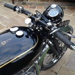 Vincent Comet - 1950 - Gas Tank, Filler cap and Handlebars.
