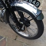 Vincent Comet - 1950 - Front Forks, Front Wheel and Mudguard.