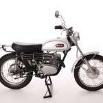Yamaha DT1 250 - 1968 - Right Side View, Exhaust, Engine and Stand.