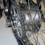 Yamaha DT1 250 - 1968 - Rear Sprocket, Chain, Rear Wheel Hub and Spokes.