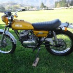 Yamaha DT250 - 1972 - Left Side, Motor, Wheels and Frame.