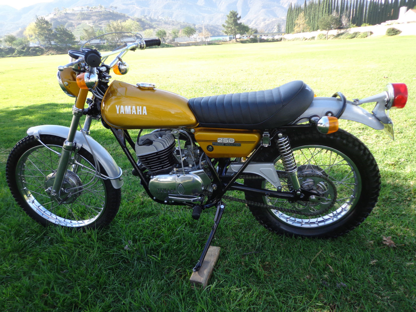 Yamaha DT250 - 1972 - Left Side, Motor, Wheels and Frame.