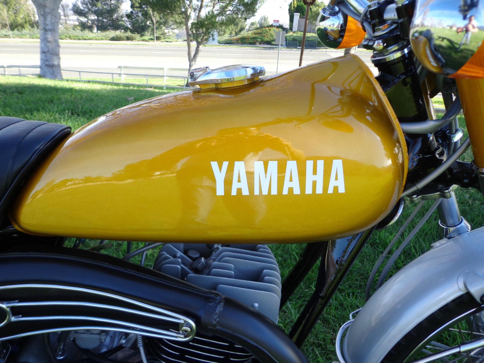 Yamaha DT250 - 1972 - Petrol Tank, Exhaust Shield and Gas Cap