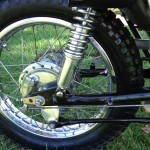 Yamaha DT250 - 1972 - Rear Wheel, Swing Arm, Rear Shock Absorber and Torque Arm.