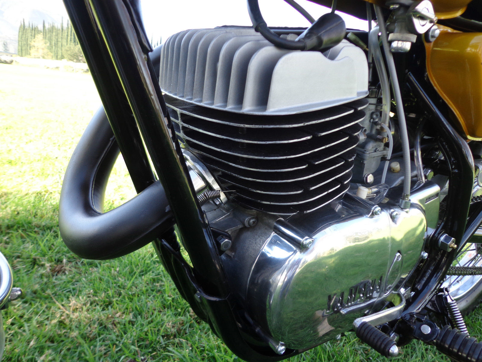 Yamaha DT250 - 1972 - Frame, Engine, Exhaust and Cylinder Head.