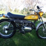 Yamaha DT250 - 1972 - Right Side, Muffler, Fuel Tank, Saddle and Frame.