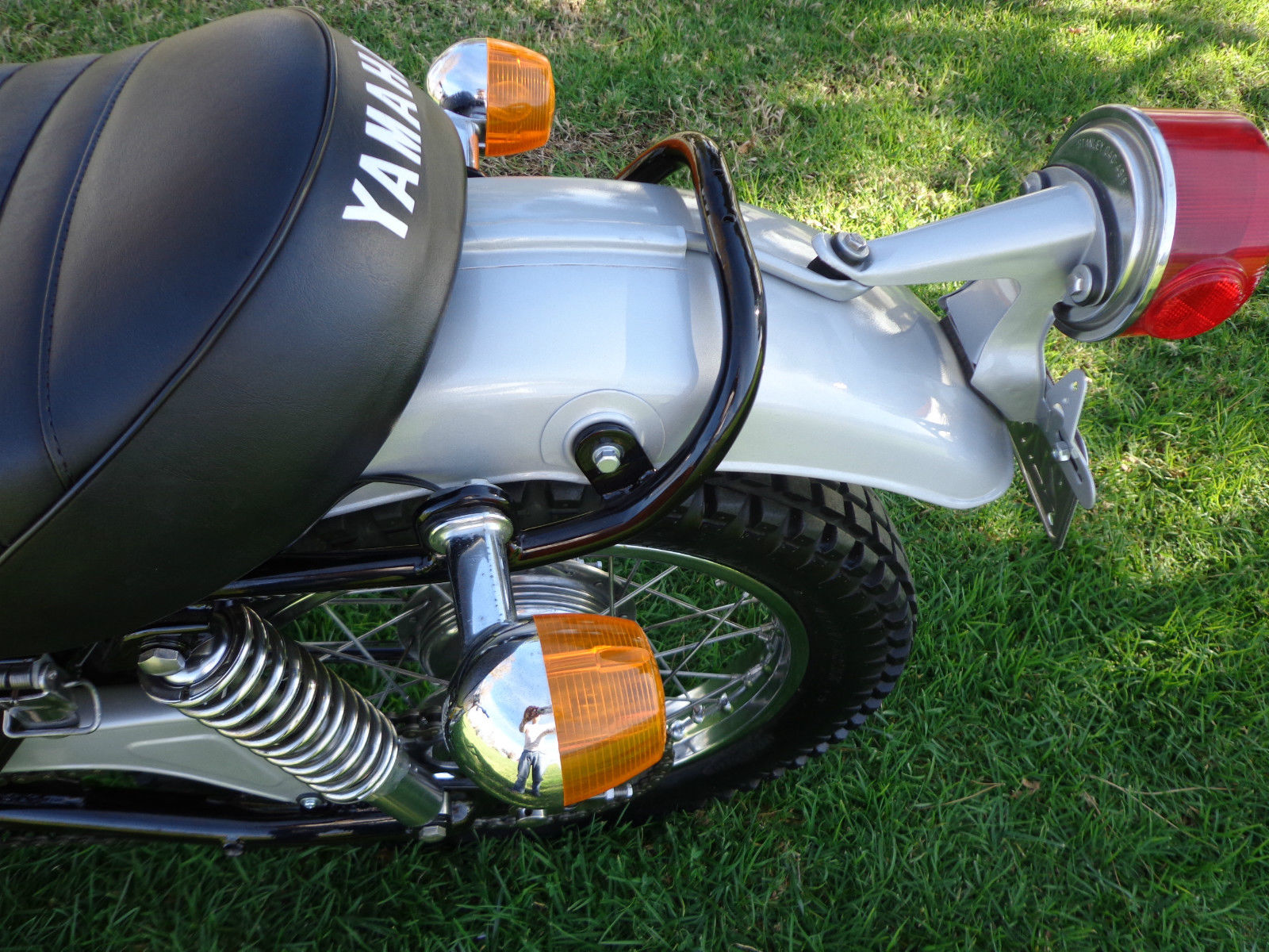 Yamaha DT250 - 1972 - Rear Fender, Mudguard, Light Bracket and Seat.