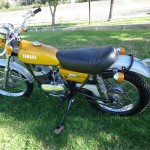 Yamaha DT250 - 1972 - Left Side, Tank, Seat and Frame.
