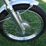 Yamaha DT250 - 1972 - Front Wheel, Spokes, Front Fender and Forks.