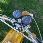 Yamaha DT250 - 1972 - Ignition Switch, Clocks, Speedo, Tacho and Handlebar.
