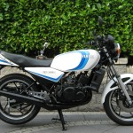 Yamaha RD350LC - 1983 - Gas Tank, Mufflers, Side Covers and Motor.