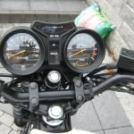 Yamaha RD350LC - 1983 - Clocks, Speedometer, Gauges, Lights, Steering Head and Rev Counter.