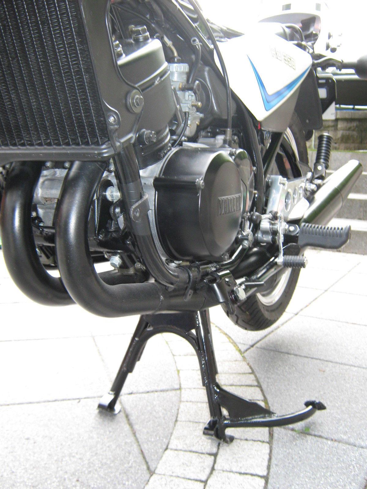 Yamaha RD350LC - 1983 - Radiator, Exhaust, Engine and Stand.