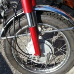 Yamaha YA6 - 1966 - Front Forks, Front Wheel, and Fender.