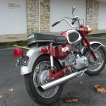 Yamaha YA6 - 1966 - Rear Fender, Rear Wheel, Muffler and Rear light.