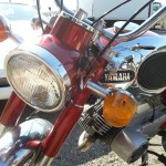 Yamaha YA6 - 1966 - Headlight, Indicator, Front Forks and Mudguard.