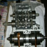 Yamaha RD250B - 1975 - Crankshaft, Gearbox and Conrods.