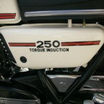 "Yamaha RD250B - 1975 - Side Panel ""Torque Induction"""