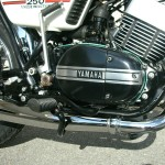 Yamaha RD250B - 1975 - Right Engine side with Kick Start and Footrest.