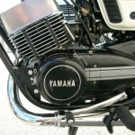 Yamaha RD250B - 1975 - Left Engine view with Gear Lever.