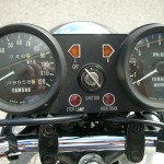 Yamaha RD250B - 1975 - Clocks, Ignition Switch and Lights.