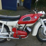 Ariel Arrow - 1962 - Lick Start, Gear Lever, Engine and Gearbox, Frame, Seat and Exhausts.
