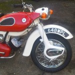 Ariel Arrow - 1962 - Fuel Tank, Motor and Transmission, Font Mudguard and Front Wheel.