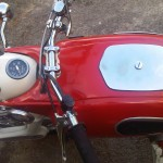 Ariel Arrow - 1962 - Gas Tank, Handlebars, Grips, Cables and Speedo.