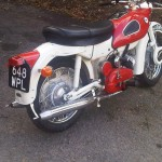 Ariel Arrow - 1962 - Rear Wheel, Silencers, Swing Arm and Hub.