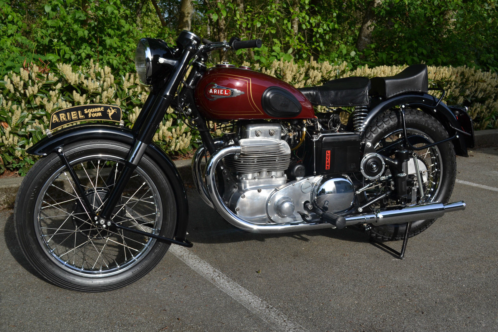 Ariel Square Four - 1952 - Engine and Gearbox, Petrol Tank and Horn.