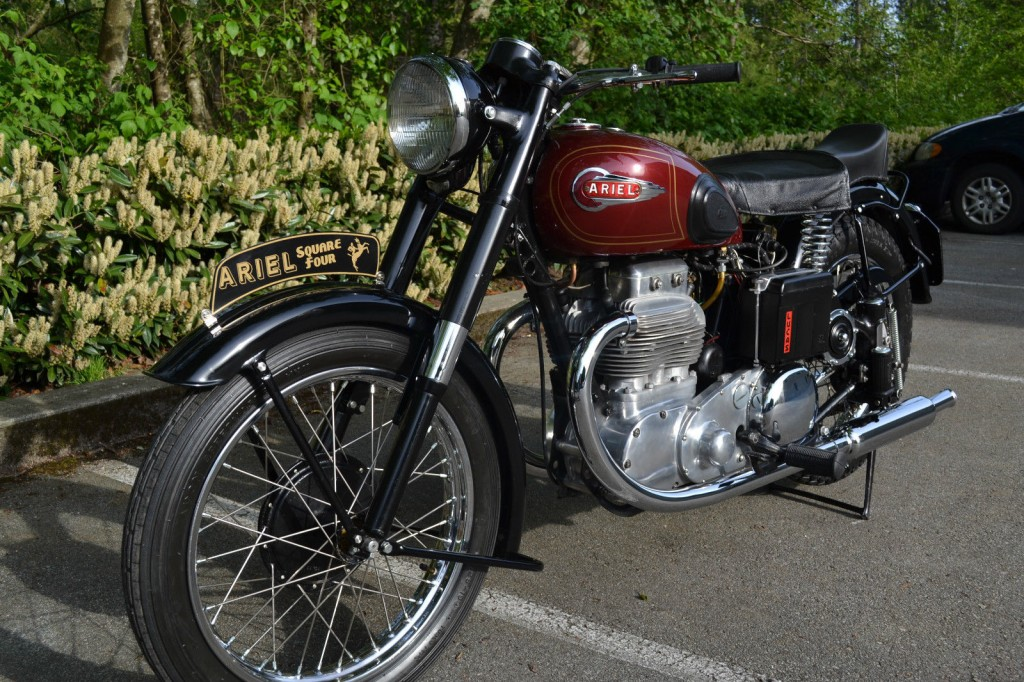 Ariel Square Four - 1952 - Front Wheel, Front Forks, Front Fender and Headlight.