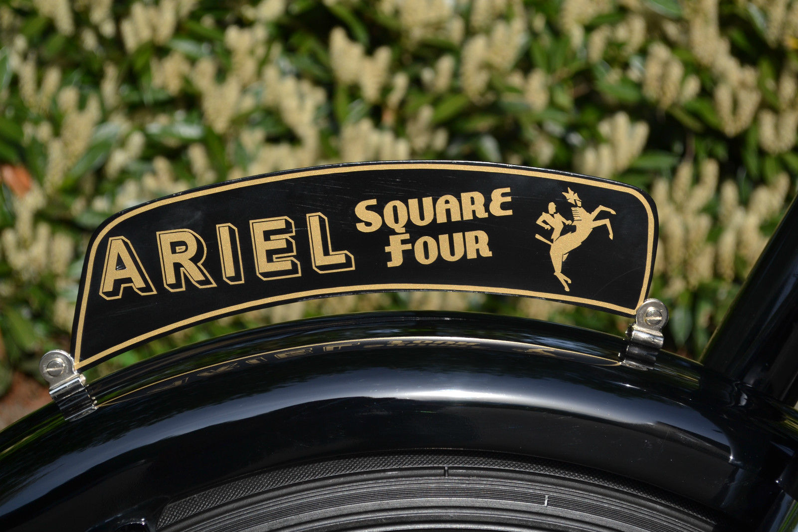 Ariel Square Four - 1952 - Square Four Number Plate.