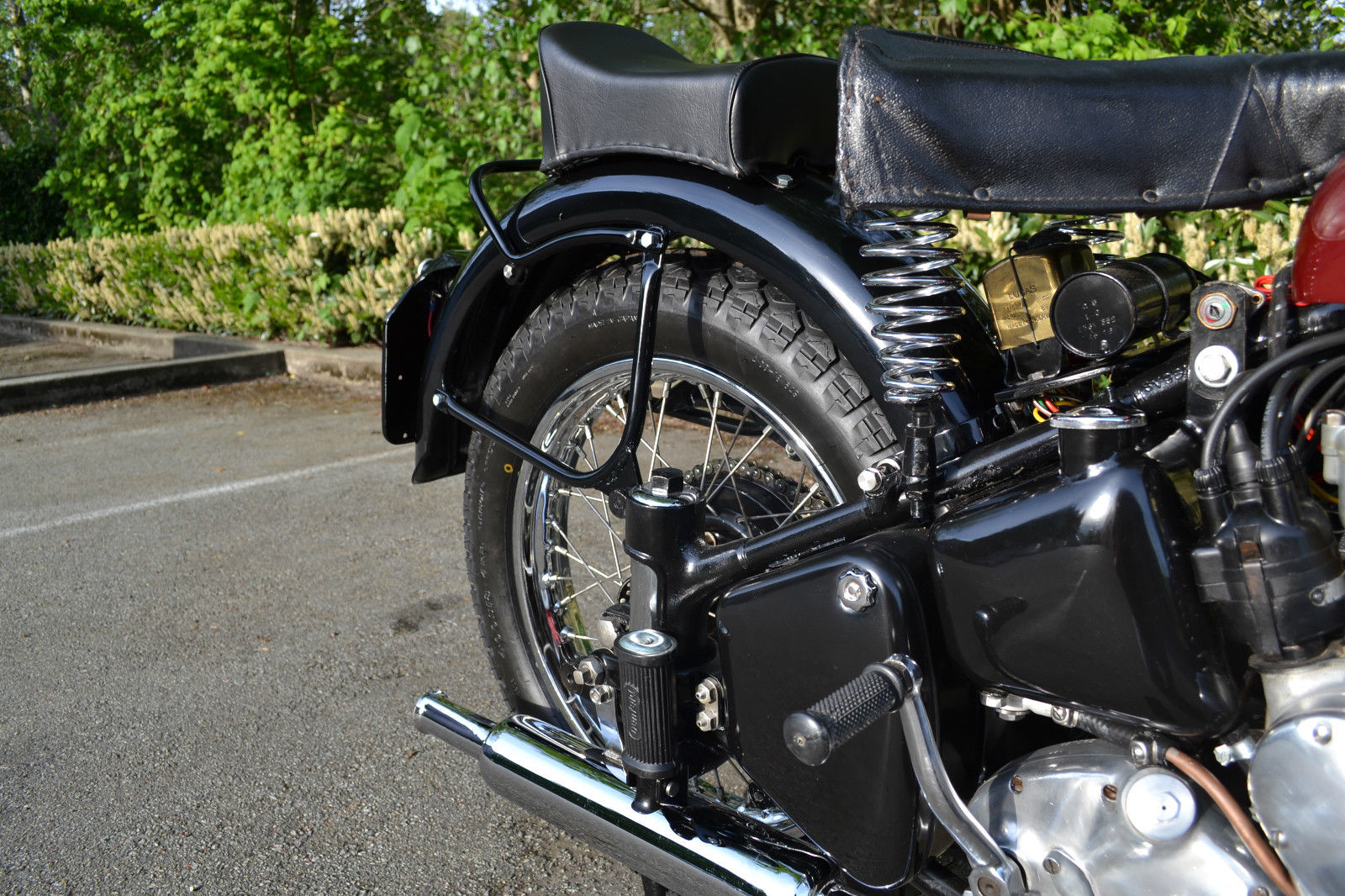 Ariel Square Four - 1952 - Saddles, Muffler, Kick Start and Gearbox.