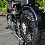Ariel Square Four - 1952 - Exhaust Silencer, Rear Suspension, Tyre, and Mudguard.