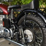 Ariel Square Four - 1952 - Rear Wheel, Chain, Seat Springs, Muffler and Fender.