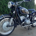 BMW R60/2 - 1967 - Front Forks, Front Fender and Front Wheel.