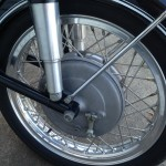 BMW R60/2 - 1967 - Front Wheel, Forks and Front Brake Hub.