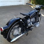 BMW R60/2 - 1967 - Tail Light, Mudguard, Rear Drive and Exhaust.