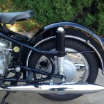 BMW R60/2 - 1967 - Rear Suspension, Rear Fender and Muffler.