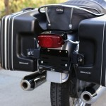 BMW R75/5 - 1971 - Rear Light, Exhaust Silencers, Number Plate and Fender.