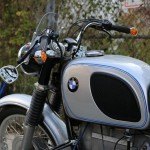 BMW R75/5 - 1971 - Handlebars, Mirror, Tank Pad and Forks.