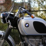 BMW R75/5 - 1971 - Gas Tank, BMW Badges, Indicators, Headlight and Screen.