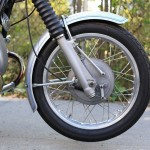 BMW R75/5 - 1971 - Front Wheel, Front Drum Brake and Forks.